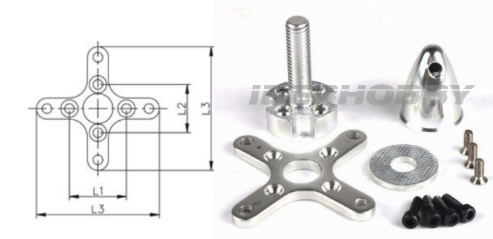 UNI. SUPPORT AND PROPELLER E. MOTOR 42mm.