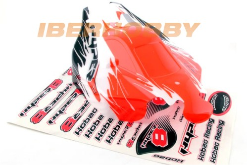BODY SHELL HYPER 8.5 RED